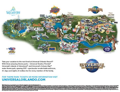 universal studios orlando map universal orlando maps including theme parks and resort maps