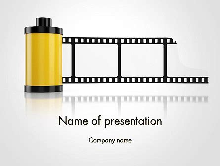 camera film roll powerpoint template, backgrounds | 14143