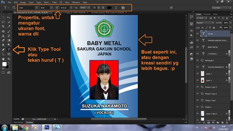 link membuat id card cara membuat id card di photoshop cs6 photoshop