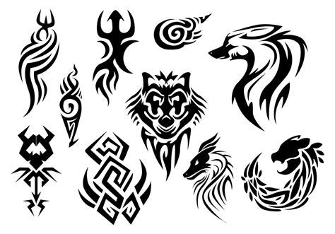tribal tattoo vectorial pinstripes vector free vector stock