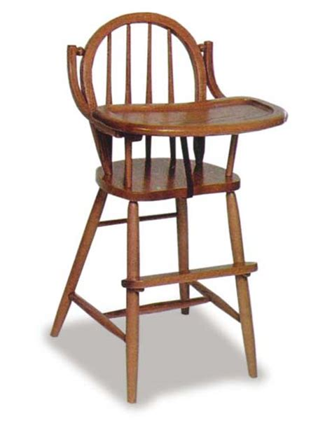 amish bow back high chair amish dining room furniture