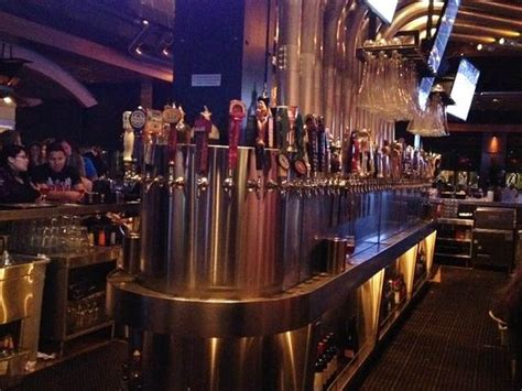 yard house brunch center bar area with 130 beers on tap picture of yard house glendale tripadvisor