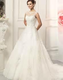 Wedding Dress No Train Aliexpress Com Comprar Elegante Blanco De Encaje Vestidos Con Botones Scoop Vestido De Novia