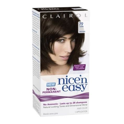 buy clairol nice n easy non permanent hair colour 8 clairol nice n easy non permanent hair color 79 dark
