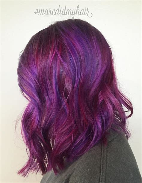 purple hair color 40 versatile ideas of purple highlights for brown