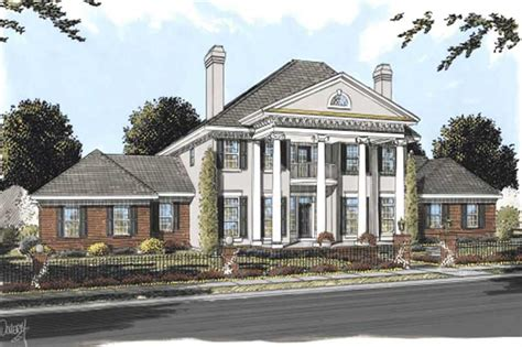 colonial home plans colonial house plans southern home design db 24192 11756