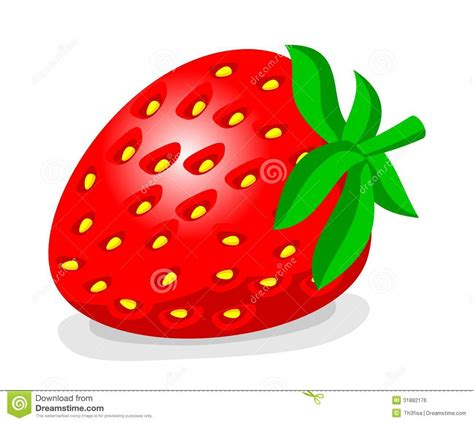 strawberry cartoon cartoon strawberry stock illustration illustration of