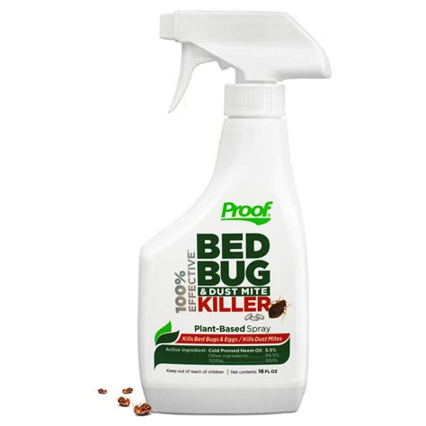 bed bug spray proof 100 effective bed bug and dust mite killer spray