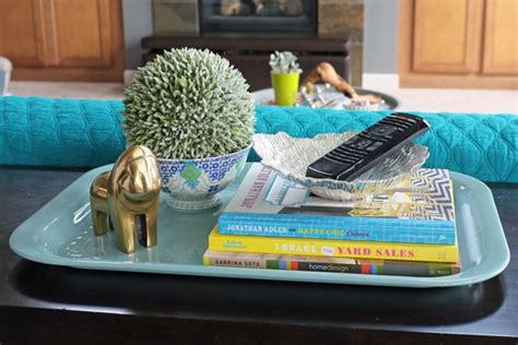 How To Style A Sofa Table Teal And Lime By Jackie Hernandez Styling A Sofa Table