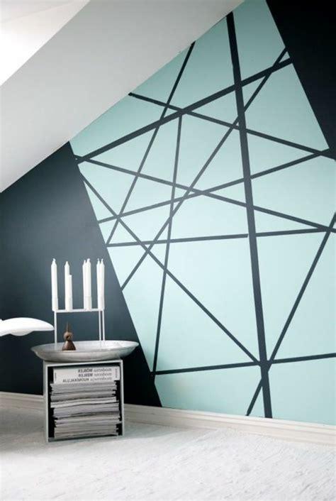 wandgestaltung mit farbe muster 4927 geometrische formen tolle wandgestaltung mit farbe