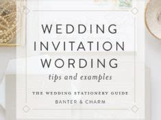 wedding stationery guide rsvp card wording sles banter and charm
