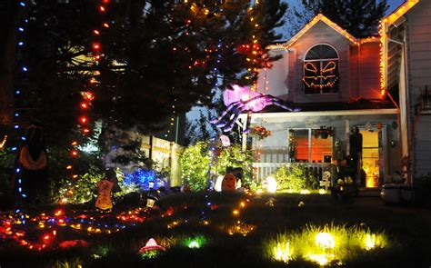 halloween house with lights and music adair house takes halloween decorations to the next level local gazettetimes com