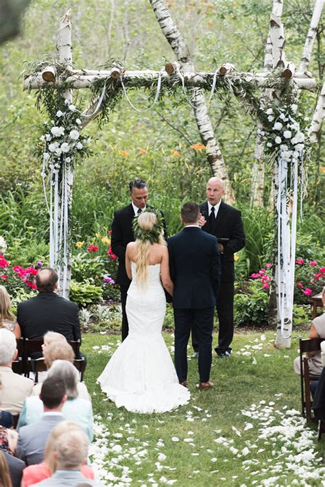 wedding in my backyard italian inspired backyard wedding ruffled