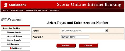 bank of scotia banking contribute to accounts your account managed