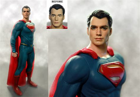 figure vs doll henry cavill superman custom doll figure repaint by