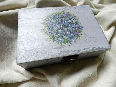 Handmade Studio - decoupage technique jewelry box forget me nots