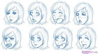 how to draw doodle sketch how to draw expressions step by step anime heads