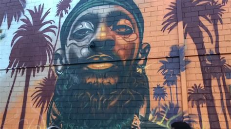 oakland unveils  mural paying tribute  rapper nipsey