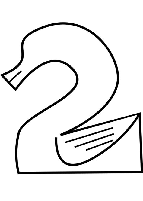 Free Number Number 2 Coloring Pages Number 2 Coloring Page