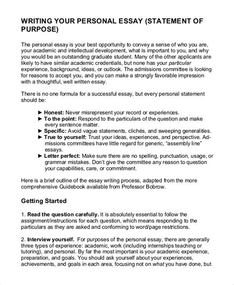 template statement of purpose sle statement of purpose 10 exles in pdf word