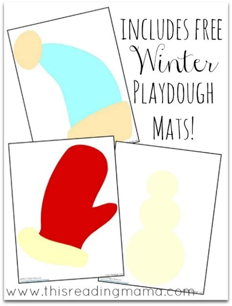 printable snowman playdough mats christmas and winter playdough mats free download