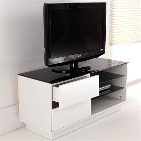 white gloss two drawer glass shelf lcd plasma tv stand