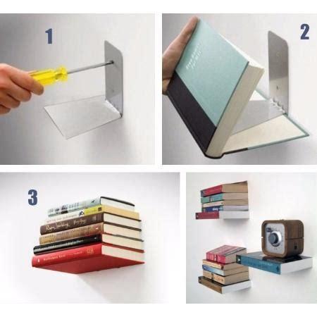 estantes para libros estante para libros invisible decoraci 243 n biblioteca pared