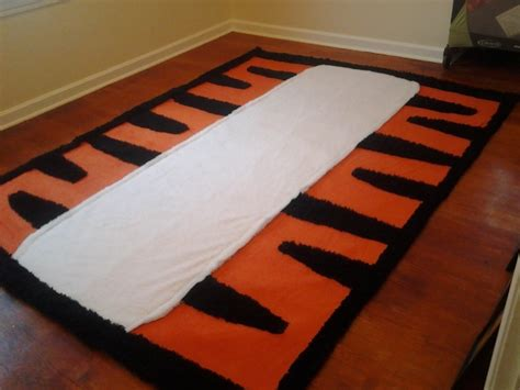 diy nursery rug diy hobbes inspired tiger area rug project nursery