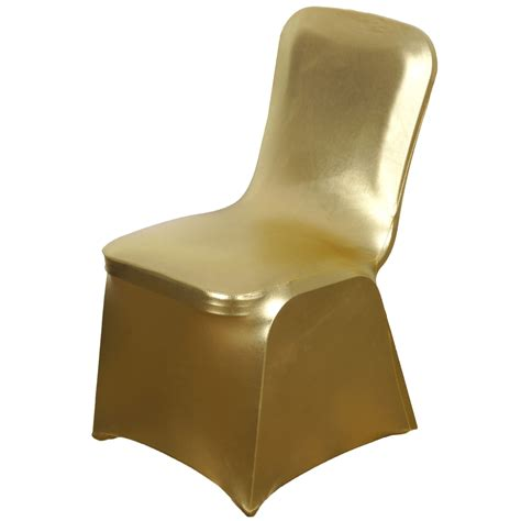 gold wedding chair covers lame spandex elastic stretchable chair covers wedding