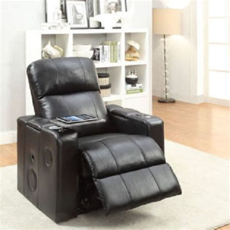 recliner gaming chair with speakers bluetooth leather chair home gaming theatre seat recliner