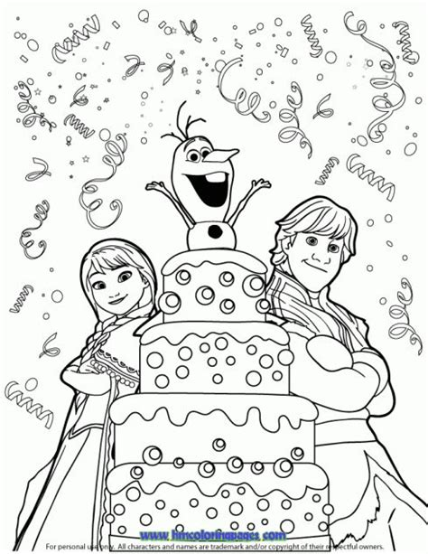 happy birthday olaf coloring page 10 images about disney frozen birthday coloring pages on