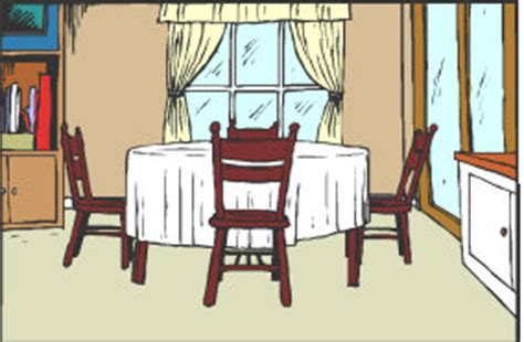 Dining Room Clipart by Vocabulary