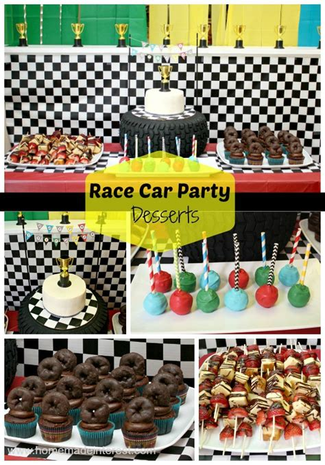 Home Made Party Decorations race car birthday party home made interest
