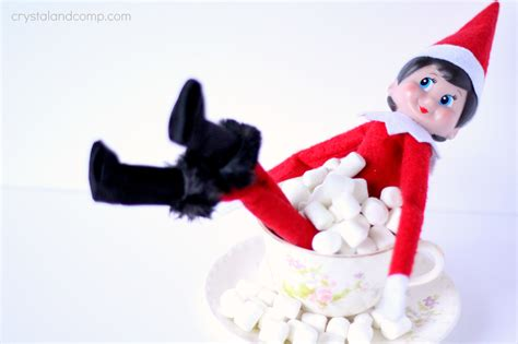 girl elf on the shelf marshmallow bubble bath