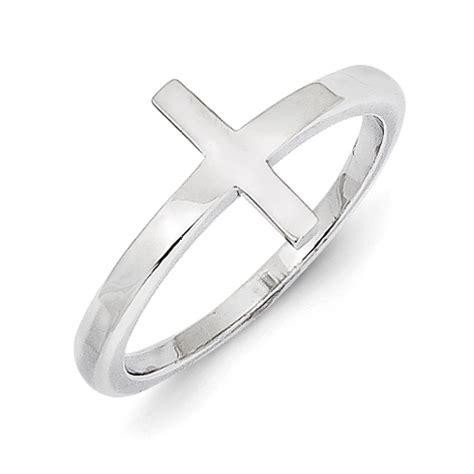 sterling silver sideways cross ring qr5883 jewelers