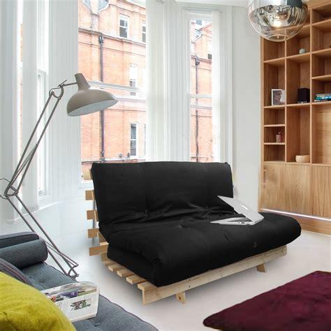 wood futon black studio futon wooden frame sofa bed thick sleeping