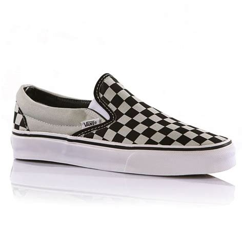 vans classic slip on womens shoes checkerboard pearl