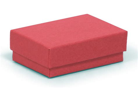 tiny in a box small multi purpose kraft recycled red jewellery box red