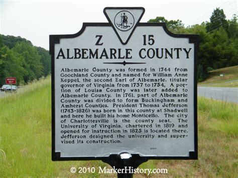 Albemarle County Records Albemarle County Z 15 Marker History