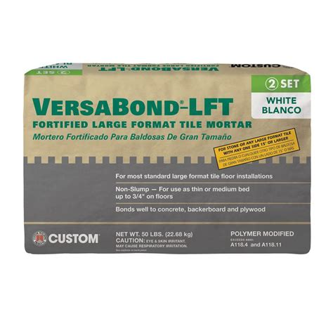 medium bed mortar custom building products versabond lft 50 lb white