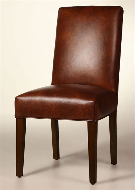 bristol straight  leather dining chair  tapered legs  full seat