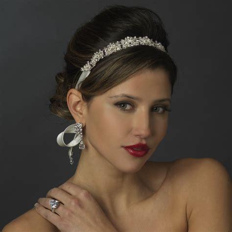 Wedding Hair Accessories Ribbon Headband by Vintage Ribbon Headband Bridal Hair