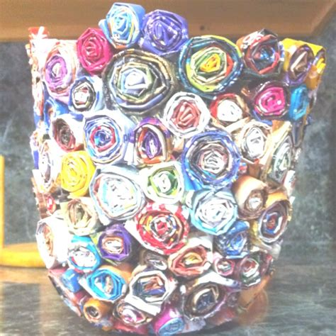 rolled magazine paper crafts rolled newspaper crafts bowl