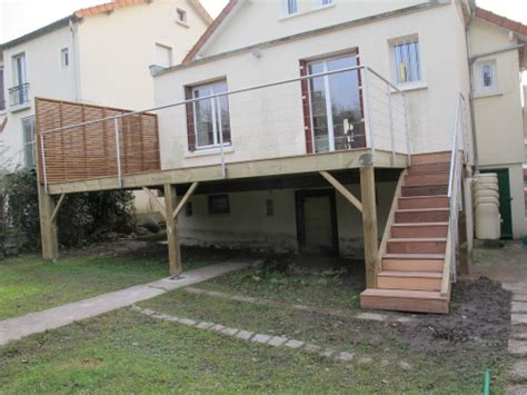 Construire Terrasse Bois Sur Pilotis by Construction Terrasse En Bois Sur Pilotis