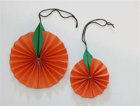Orange Craft Paper - hanging citrus fruit paper craft for buggy and buddy