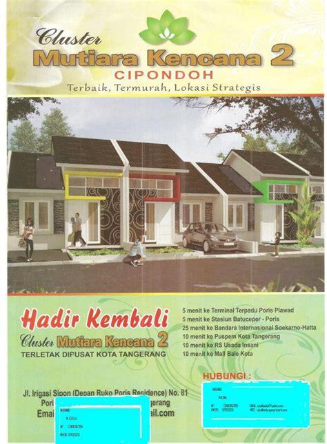 Rumah Murah Di Cipondoh Tangerang rumah dijual rumah cipondoh cluster mutiara kencana 2