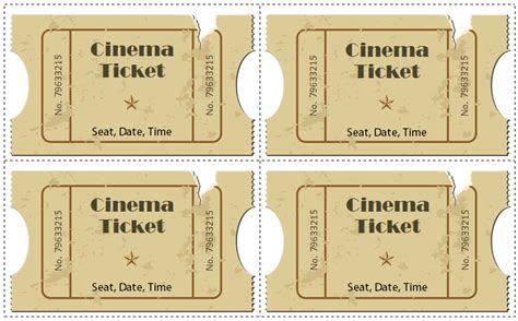 6 Movie Ticket Templates To Design Customized Tickets Fashioned Ticket Template
