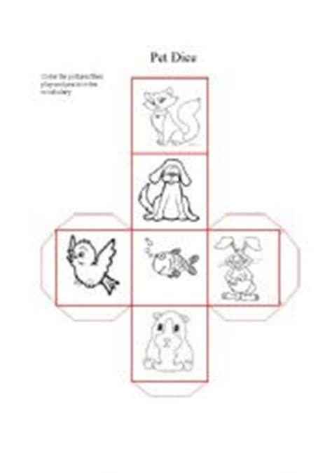 printable animal dice english teaching worksheets pets