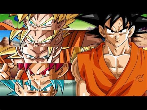 dragon ball af goku en todas sus fases af goku todas sus fases vs dragon ball bt3