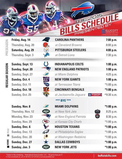 buffalo bills not so ralph friendly schedule the herd report